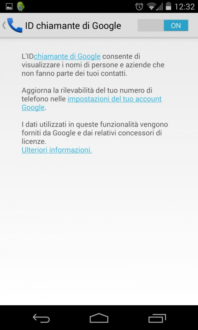 Android 4.4 KitKat, ID chiamante