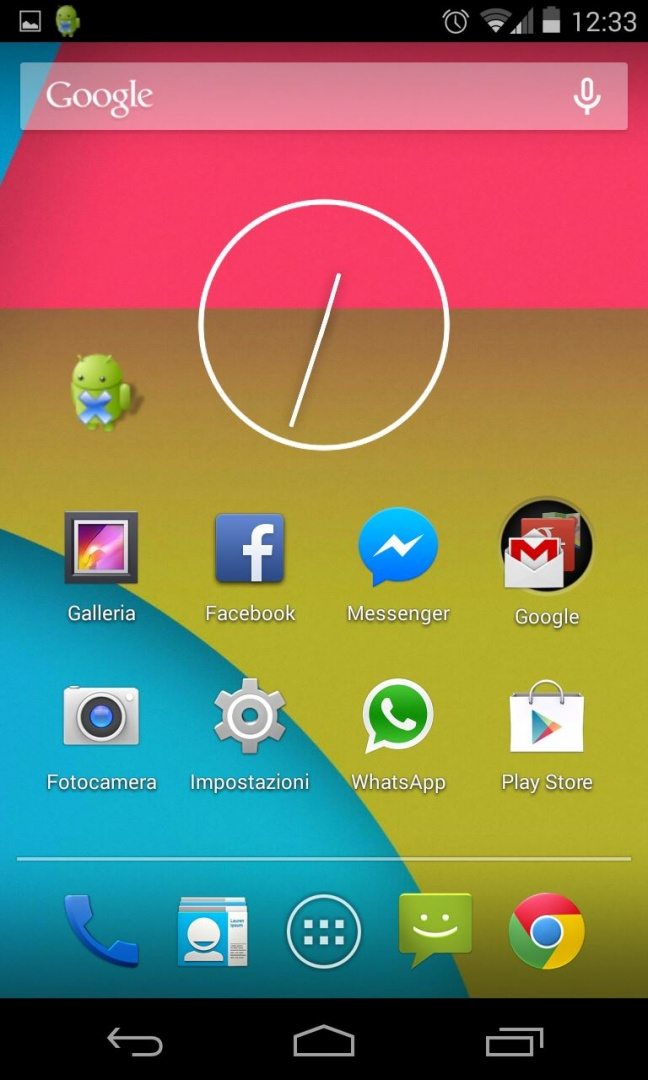 Android 4.4 KitKat, homescreen