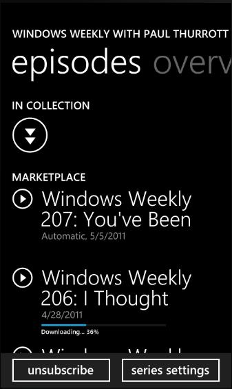 Anteprima di Windows Phone 7.5 - Podcast