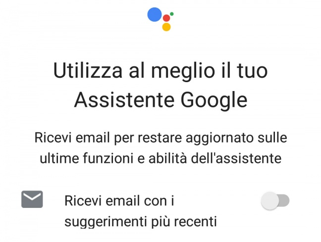 Assistente Google in italiano