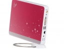 Asus Eee Box rosa, immagine laterale