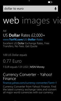 Bing per Windows Phone 8