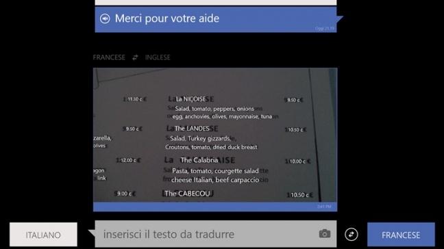 Bing Translator per Windows 8
