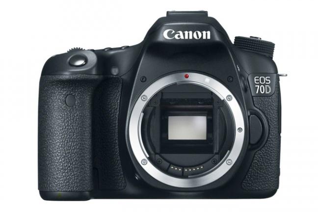 Canon EOS 70D vista frontalmente