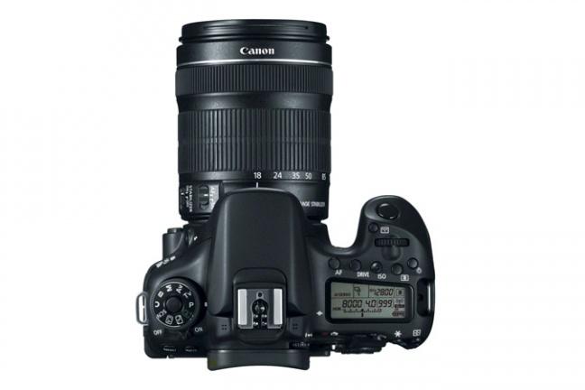 Canon EOS 70D vista dall'alto