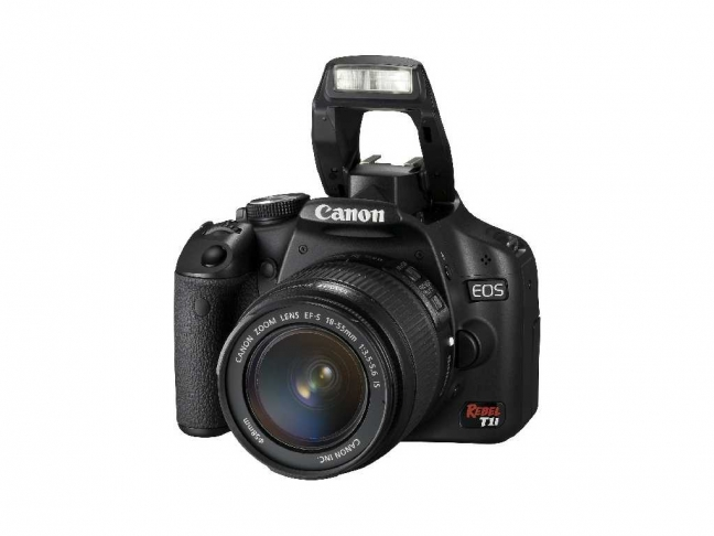 EOS Rebel T1i - 3/4 With Flash Up
