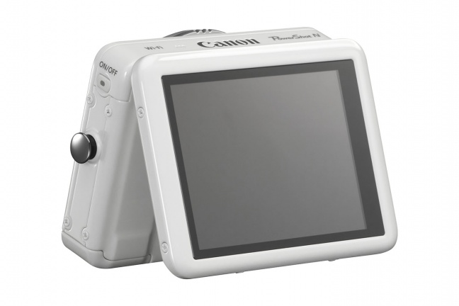 Canon PowerShot N bianca, retro