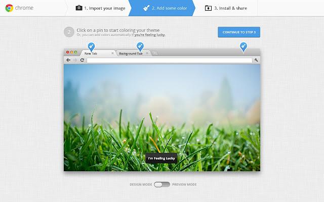 Chrome, applicazione Il mio Tema
