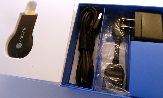 Google Chromecast, il contenuto della scatola