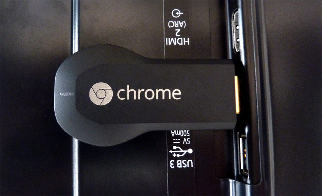 Google Chromecast connesso alla TV