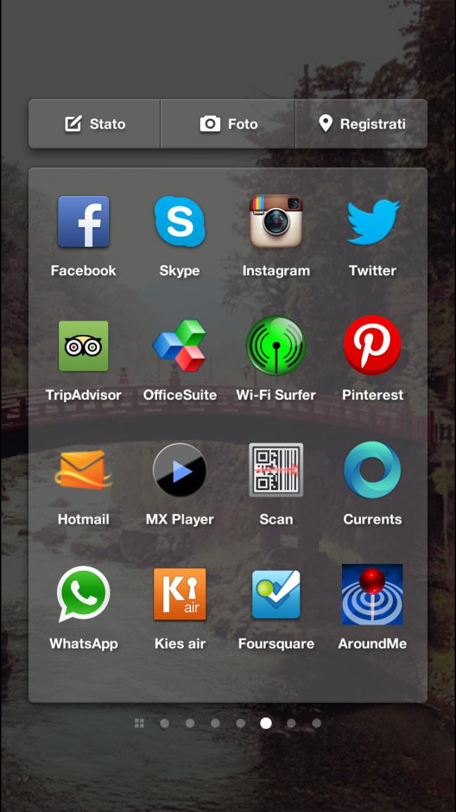 La schermata delle app