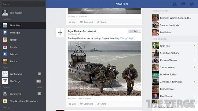 Facebook per Windows 8.1