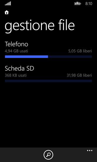 Gestione file - Windows Phone 8.1