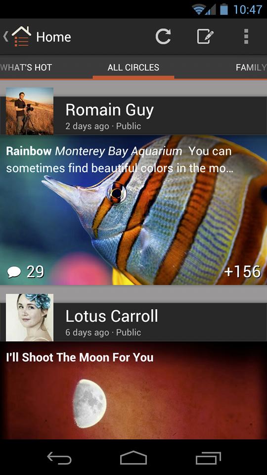 Google+ 2.6 per Android