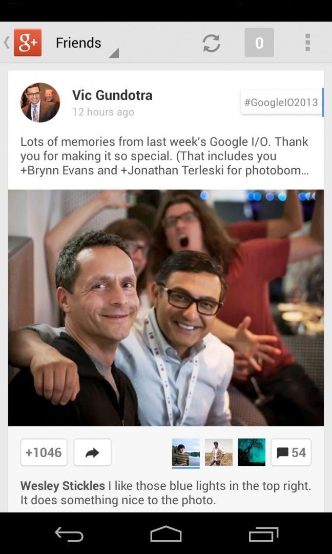 Google+ 4.0 per Android