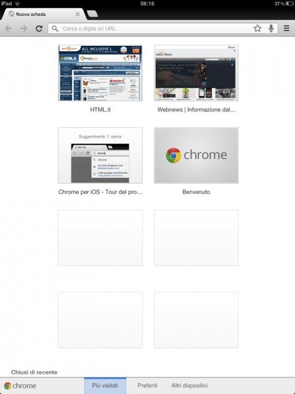 Google Chrome per iOS