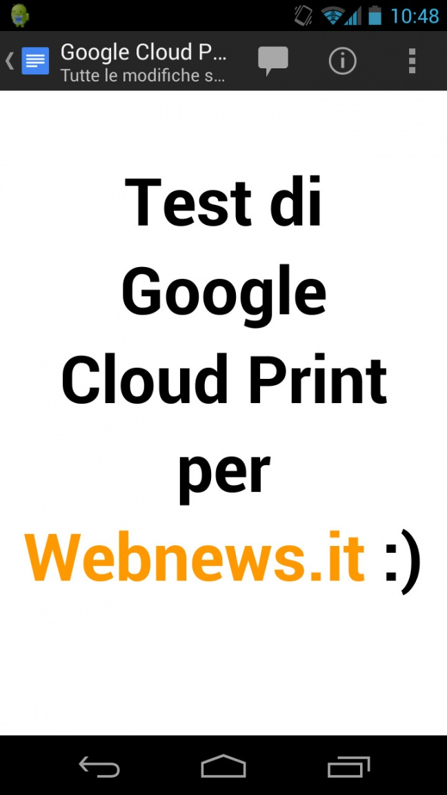 Google Cloud Print su Android