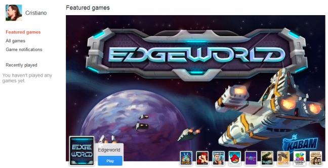 Google+ Games Stream