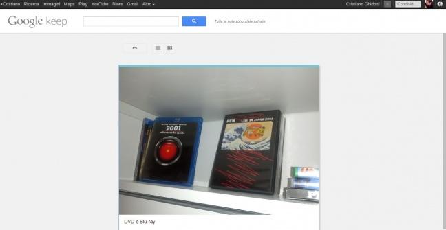 Google Keep (interfaccia Web)