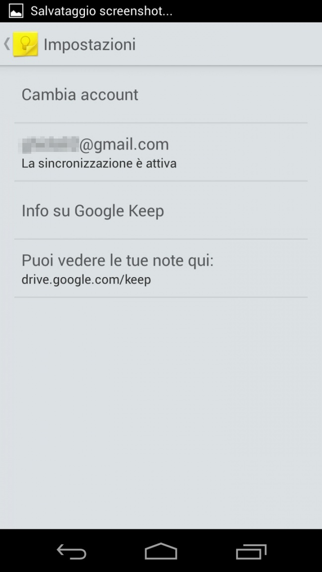 Google Keep (applicazione Android)