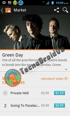 Google Music store, leaked screenshot (TecnoDroidVe)