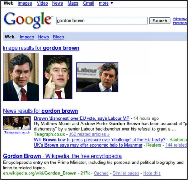 Google News nel 2007
