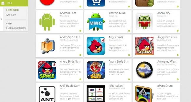 Google Play Store, restyling per la versione Web