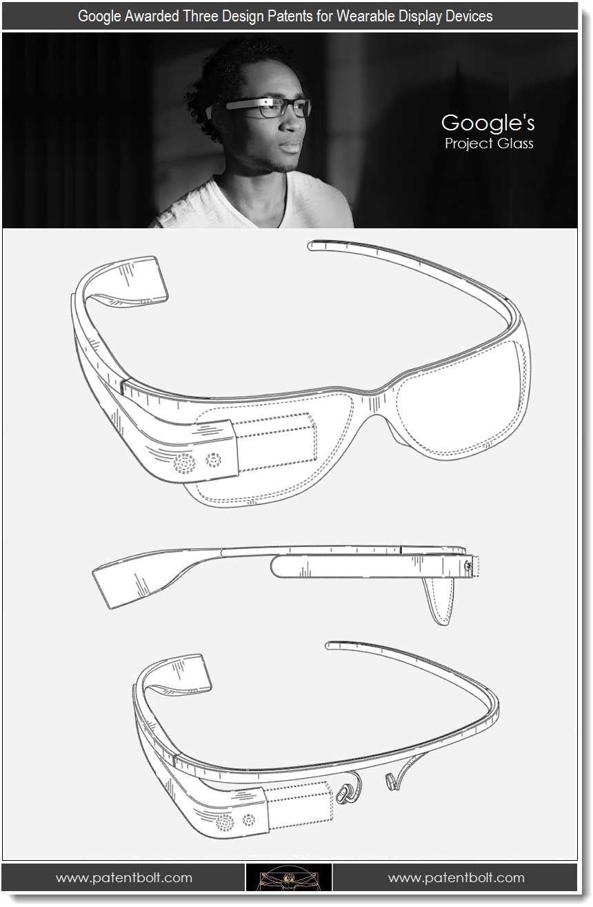 Google Project Glass, brevetto