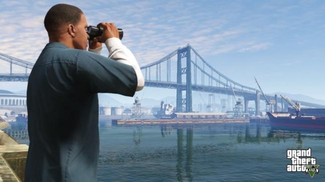 Una parte del mondo di gioco di GTA 5