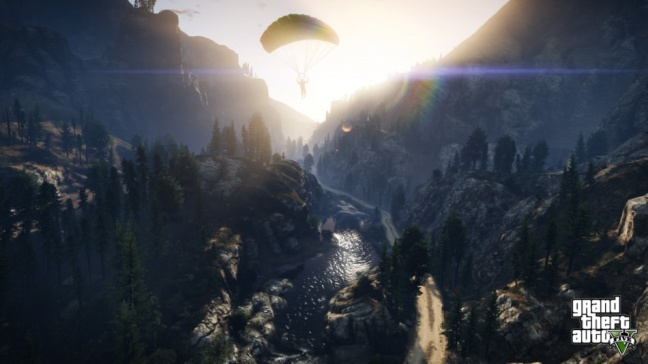 GTA 5, si vola col paracadute
