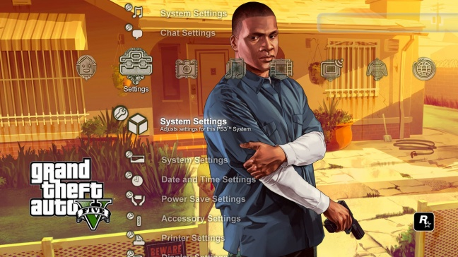 GTA 5, tema dinamico PS3