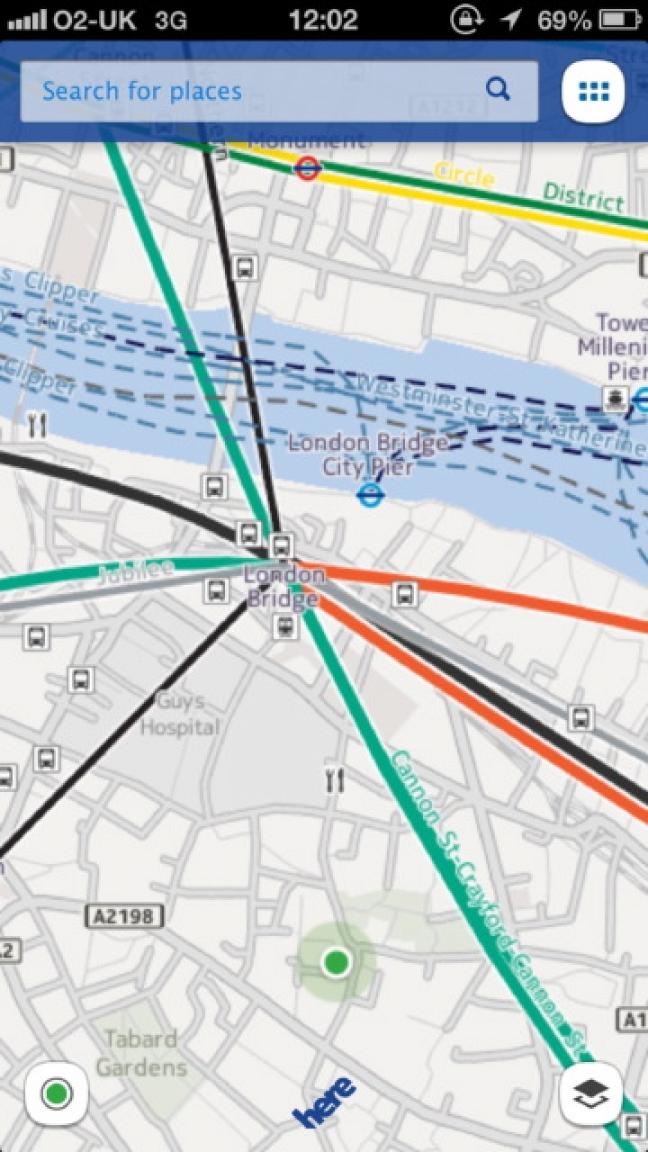 Here Maps di Nokia su iOS