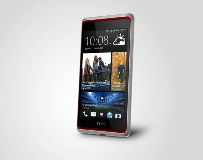 HTC Desire 600, prospettiva laterale