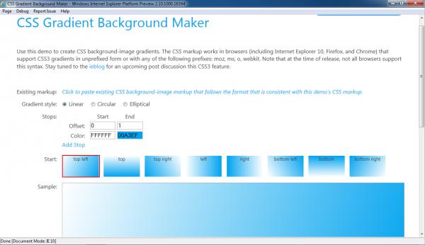 Internet Explorer 10 - Platform Preview 1