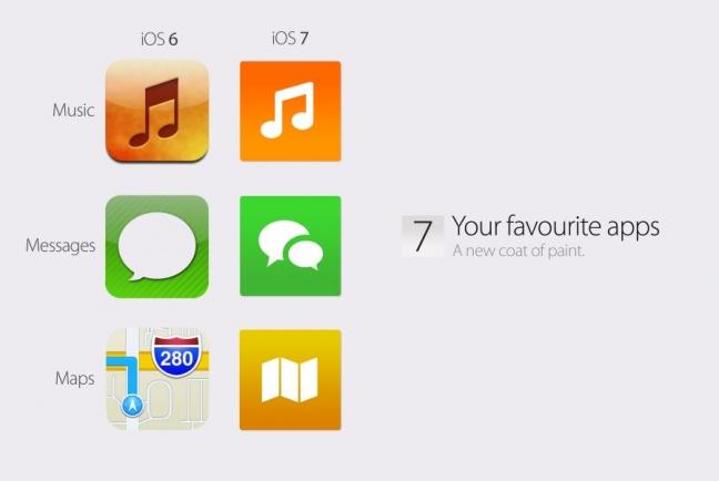 iOS 7 concept, applicazioni