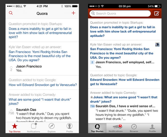 iOS Redesigns