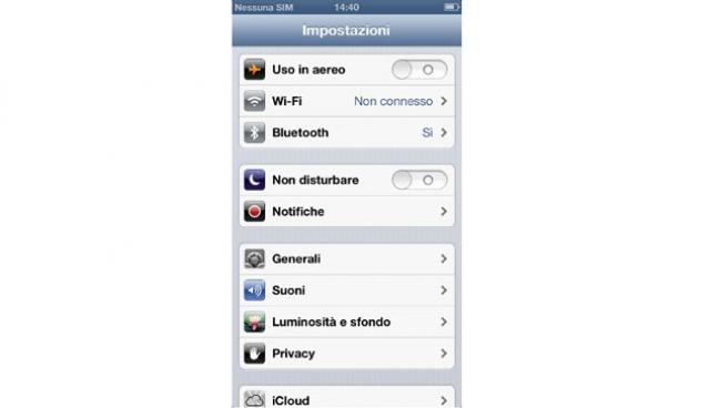 iPhone 5 - iOS 6