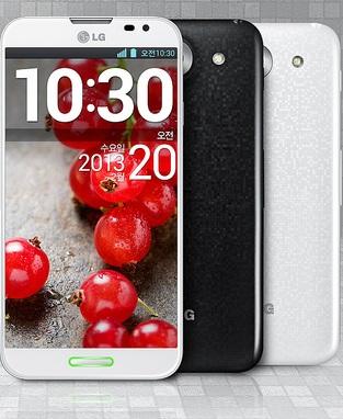 LG Optimus G Pro, bianco e nero
