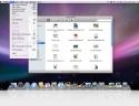 Desktop, cartella e menù di Mac OS X 10.5 Leopard