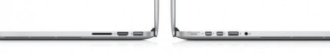 Profilo MacBook Pro 13 pollici Retina display