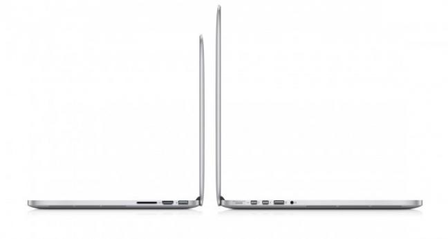 MacBook Pro 13 pollici Retina display, il profilo