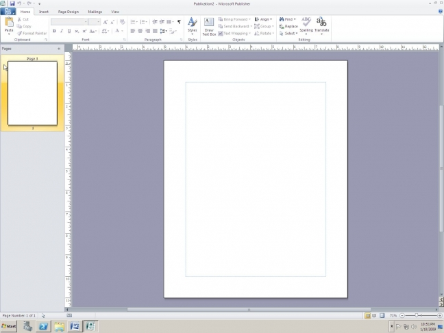Screenshot di Publisher