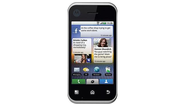 Motorola Backflip - fronte