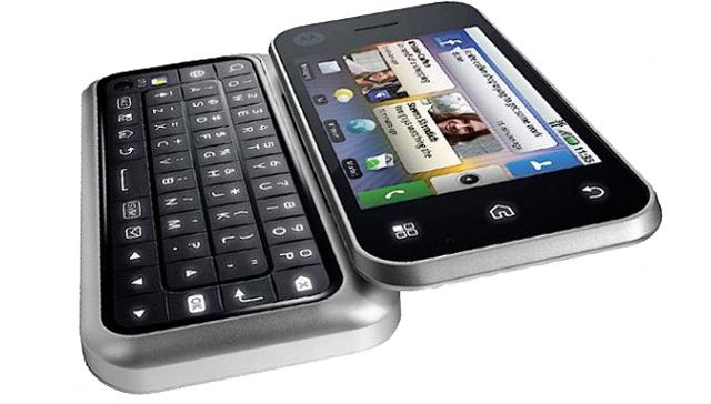 Motorola Backflip - tastiera