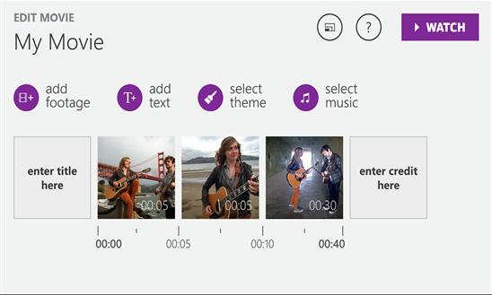 Movie Creator per Windows Phone 8.1