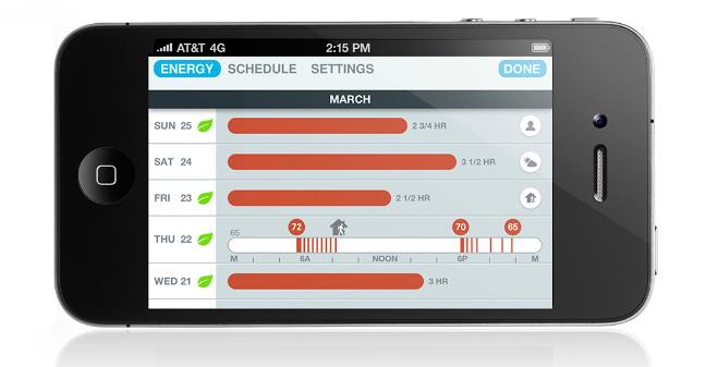Nest, applicazione mobile
