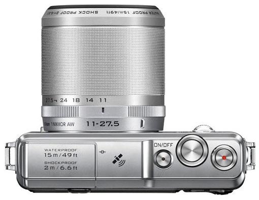 Nikon 1 AW1 con obiettivo