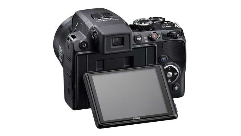 Nikon Coolpix P100 vista posteriore