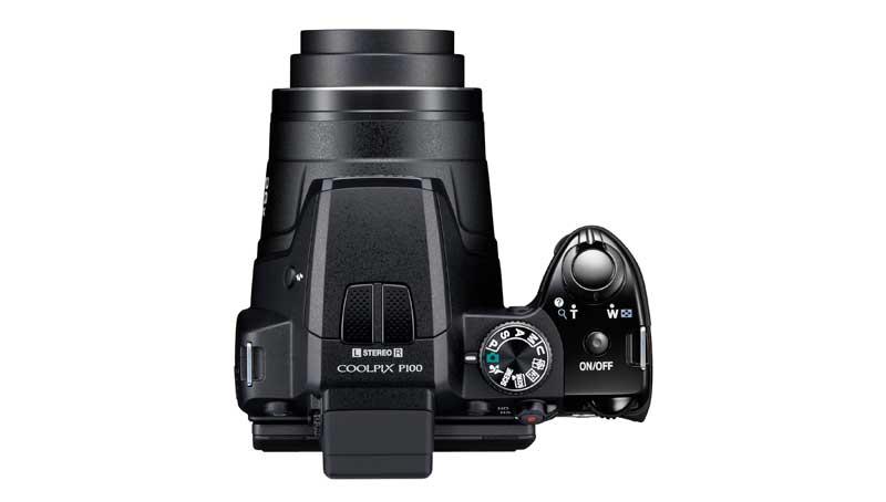Nikon Coolpix P100 vista dall'alto