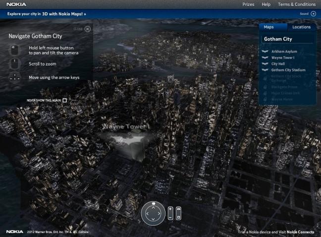 Nokia Lumia 900 mappa Gotham City